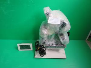 顕微鏡 梱包前 電波時計 撮影