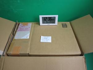 顕微鏡 梱包後 電波時計 撮影