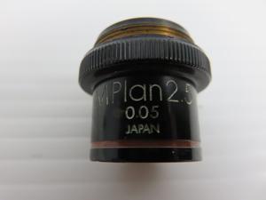 オリンパス 対物レンズ 印字文字